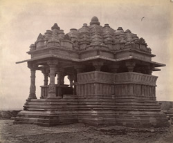 Side view of the Small Sasbahu Temple, Gwalior